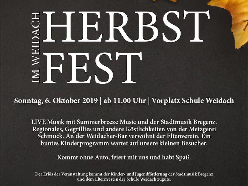 Herbstfest im Weidach 2019