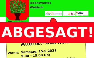 ABGESAGT: Weidacher Allerlei-Märktle
