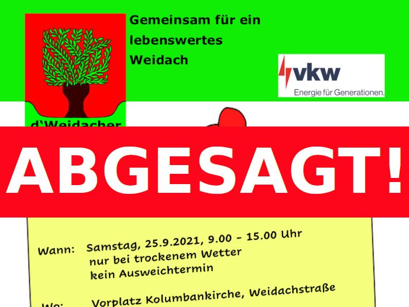 ABGESAGT: Weidacher Allerlei-Flohmarkt Herbst 2021